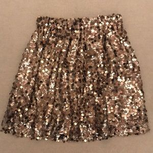 Joe Fresh Gold Sequin Skirt